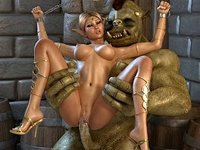 3D porno fantasie di elfo
